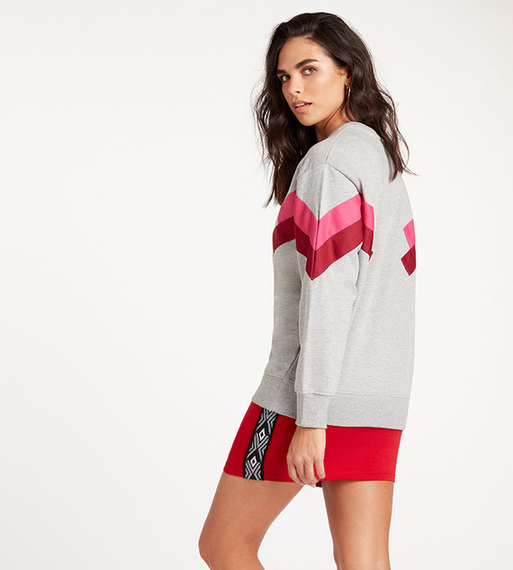 CHEVRON CREW SWEAT