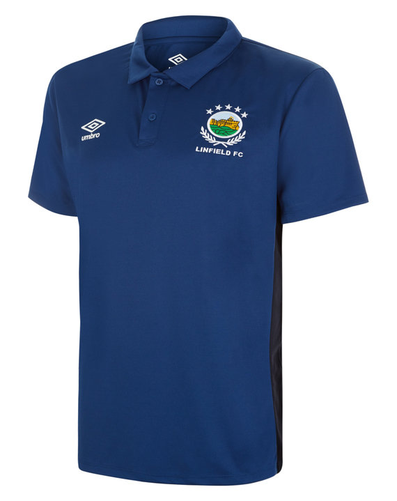 LINFIELD FC TRAINING BENCH POLY POLO