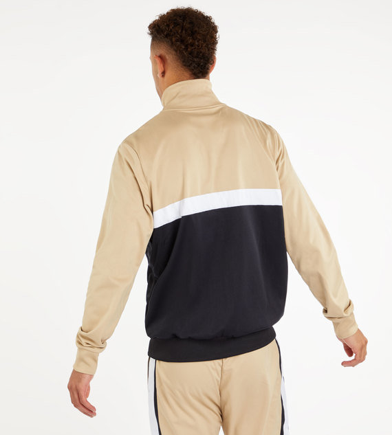 PANELLED TRACK TOP