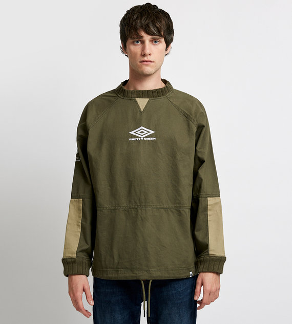PRETTY GREEN RAGLAN DRILL TOP