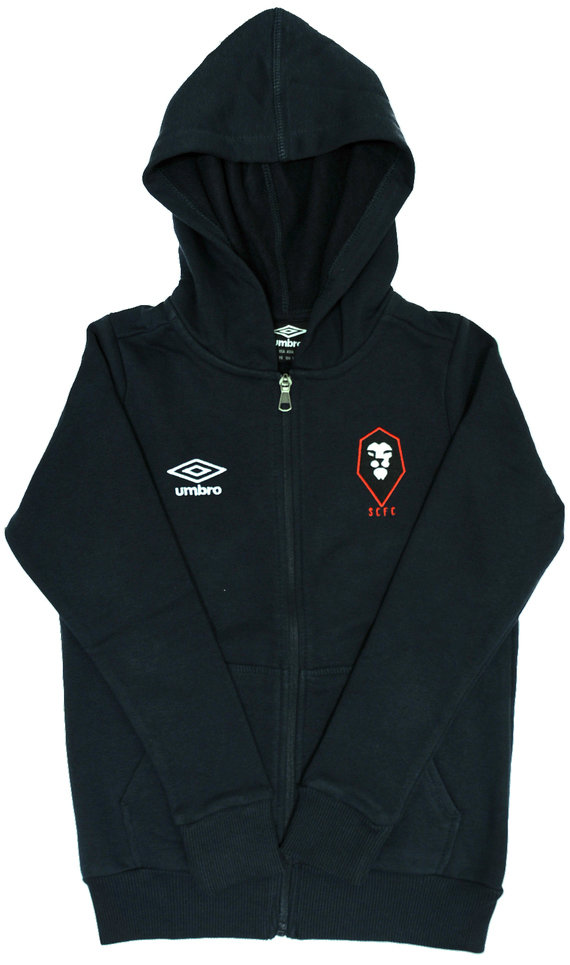 SALFORD CITY FC JUNIOR ZIP UP HOODY
