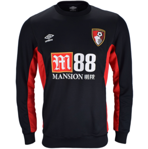 View the AFC BOURNEMOUTH 17/18 TRAINING SWEAT TOP from the Clubs collection