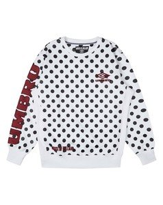 HOUSE OF HOLLAND WHITE POLKA SWEATSHIRT