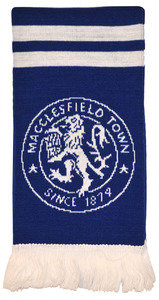 View the MACCLESFIELD FC WEMBLEY SCARF from the Clubs collection