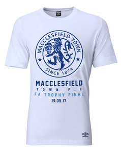 View the MACCLESFIELD TOWN FC FA TROPHY T-SHIRT from the Sale collection