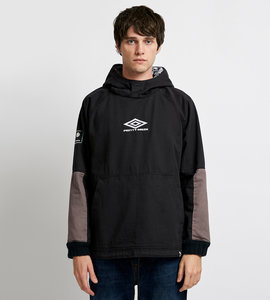 PRETTY GREEN HOODED DRILL TOP