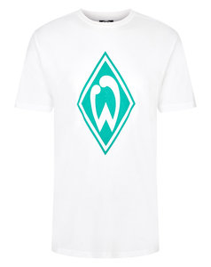 WERDER BREMEN JUNIOR LARGE LOGO CREW NECK TEE
