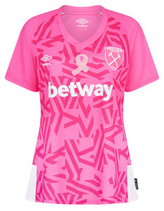 WEST HAM UTD BREAST CANCER JERSEY WOMENS