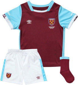 View the WEST HAM UTD 16/17 HOME BABY KIT from the Clubs collection