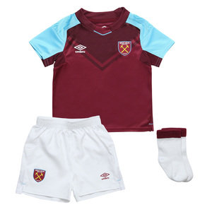 View the WEST HAM UTD 17/18 HOME BABY KIT from the Clubs collection