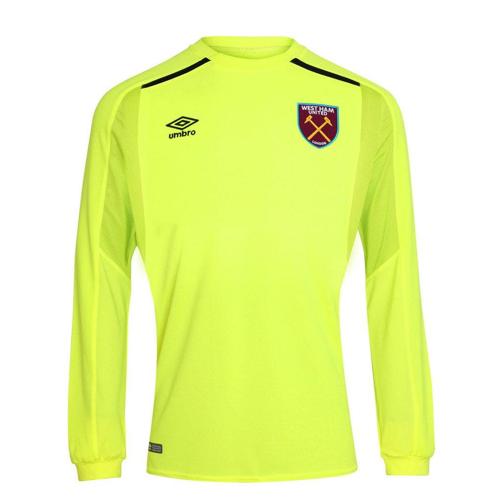 promo code cbad1 ba3cf Umbro West Ham United Kids LS Goalkeeper Home Shirt 2017/18