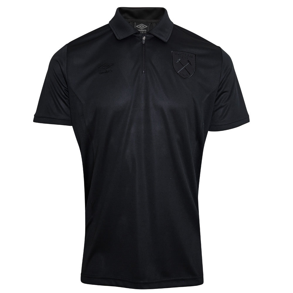 WEST HAM UTD 18/19 BLACKOUT JUNIOR TECHNICAL POLO SHIRT