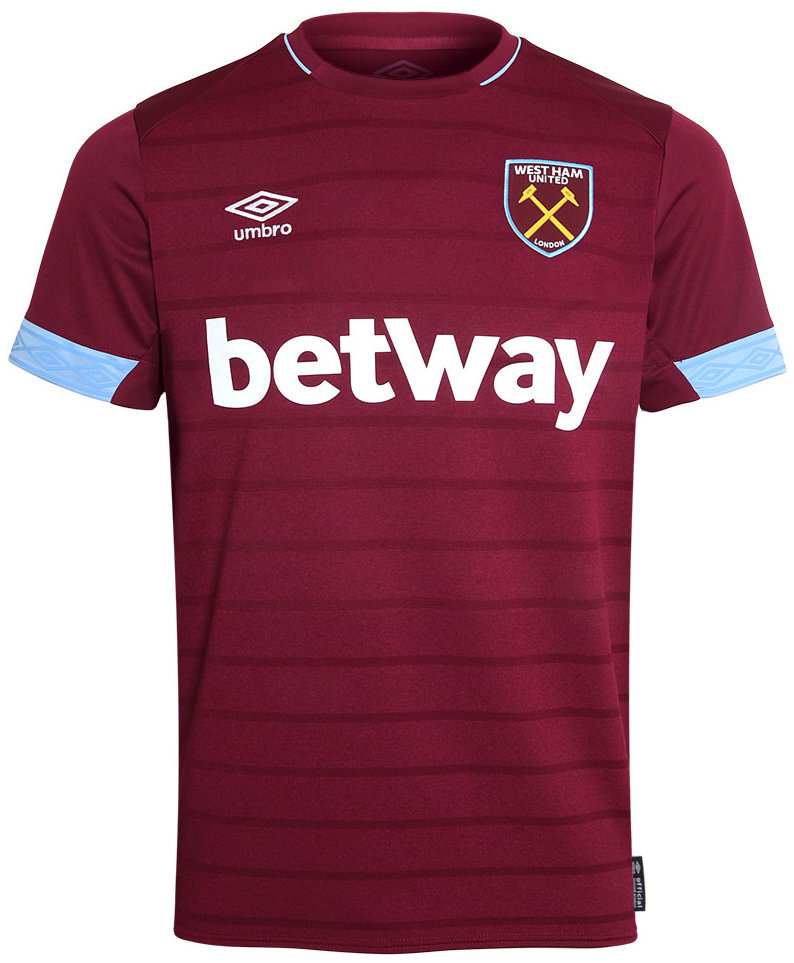 Official West Ham United Football Home Shirt Jersey Tee Top 2017//18 Kids Umbro